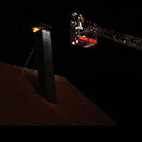 Einsatz bei einem Kaminbrand in Menden.