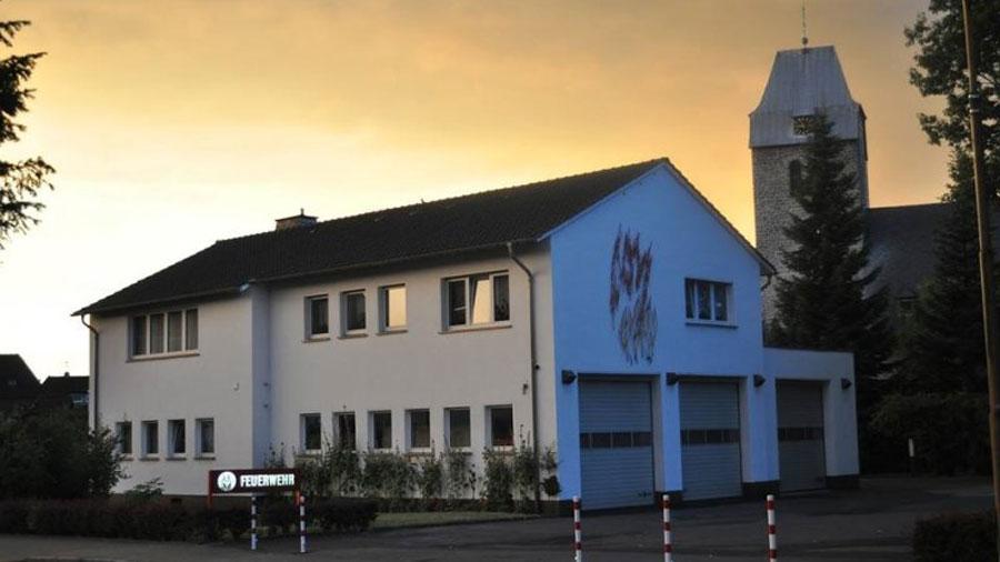 Gerätehaus Bösperde Sonnenuntergang