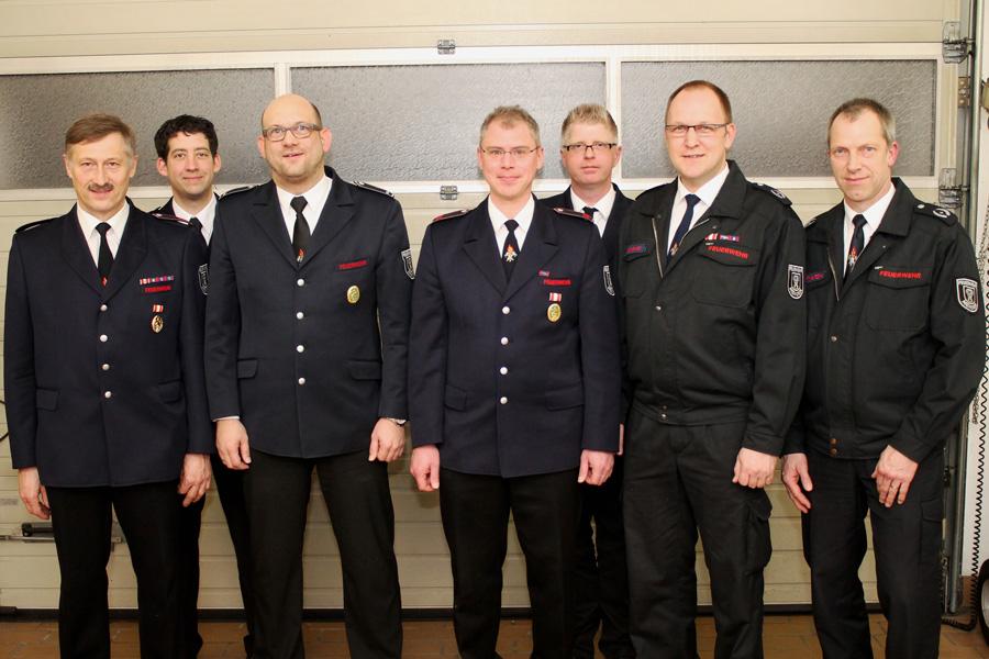 Gruppenfoto Jahresdienstbesprechung Löschzug Nord