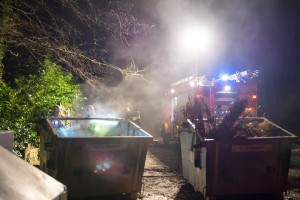 Containerbrand in Schwitten
