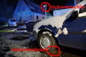 Hydrant blockiert