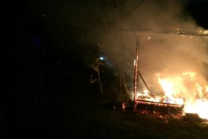 Gartenhaus in Vollbrand