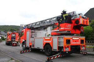 Brand im Dachgeschoss eines Einfamilienhauses im Ortsteil Lahrfeld