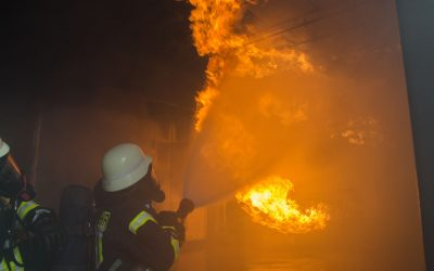 Ausbildung im Brandhaus der Feuerwehr Dortmund