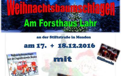 Weihnachtsbaumschlagen der Jugendfeuerwehr