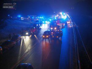 Massenkarambolage auf der A46 - Quelle: Feuerwehr Iserlohn