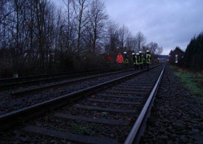 Auch Bahngleise sind betroffen