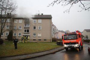 Küchenbrand in einem Mehrfamilienhaus