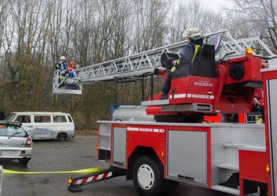 Übungswochenende im Außengelände des Instituts des Feuerwehr NRW