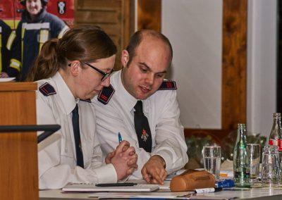Rita Neitzke und Kay Wyczisk führen das Protokoll.
