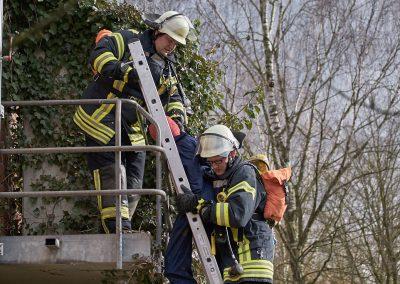 Rettung über tragbare Leitern