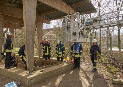 Unfall in einer Baugrube