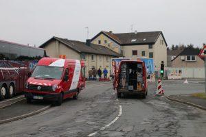 Die Stadtwerke übernahmen die Abdichtung der defekten Leitung.