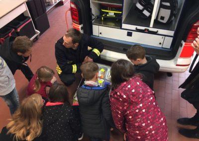 Viel zu entdecken gab es für die Kinder bei der Feuerwehr