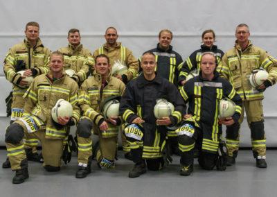 Die zehn Starter der Feuerwehr Menden beim 3. Hemeraner Firefighter Treppenlauf