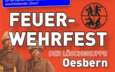 Einladung zum Feuerwehrfest in Oesbern