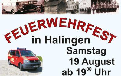 Einladung zum Feuerwehrfest Halingen