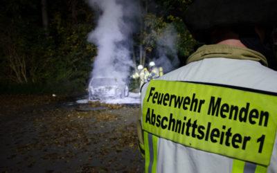 Kleinwagen vollständig ausgebrannt