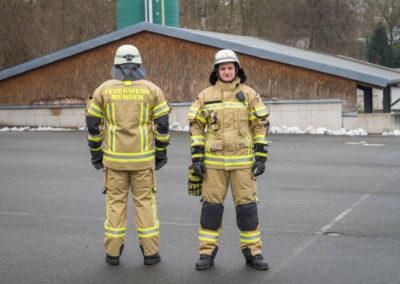 Persönliche Schutzausrüstung der Feuerwehr Menden