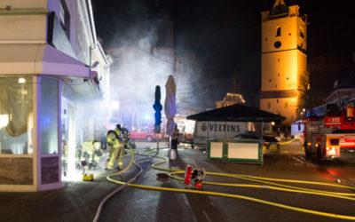 Brand in der Bahnhofstraße