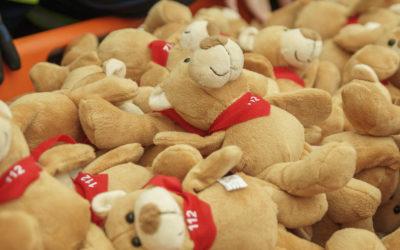 Kleine Teddys geben Kindern Geborgenheit…
