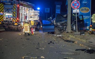 Schwerer Verkehrsunfall auf dem Bräukerweg