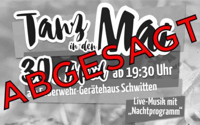 Absage: Feuerwehrfest der Löschgruppe Schwitten